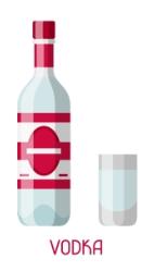 vodka ilustrace
